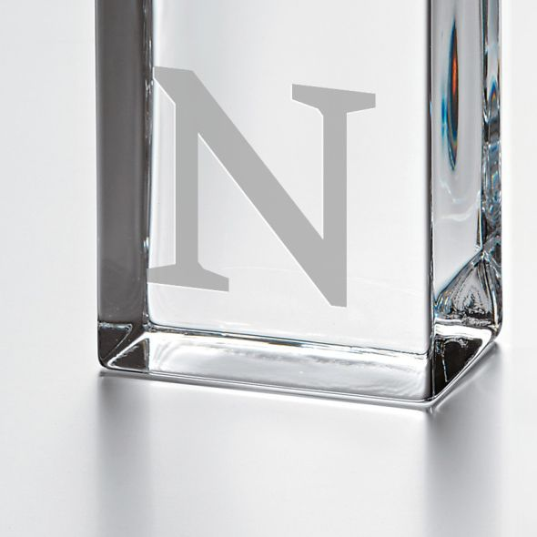 Northwestern Tall Glass Desk Clock by Simon Pearce - Image 2