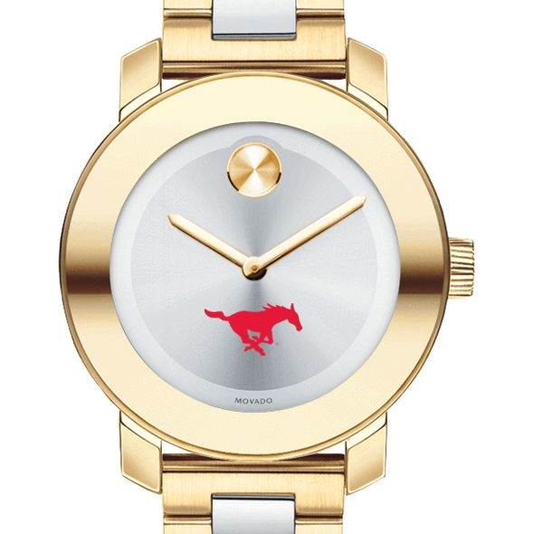 Southern Methodist University Women's Movado Two-Tone Bold