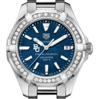 Baylor Women's TAG Heuer 35mm Steel Aquaracer with Blue Dial