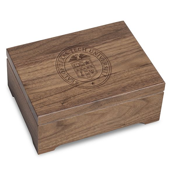Texas Tech Solid Walnut Desk Box