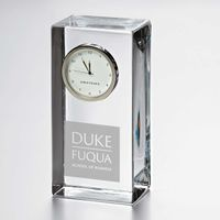 Duke Fuqua Tall Glass Desk Clock by Simon Pearce