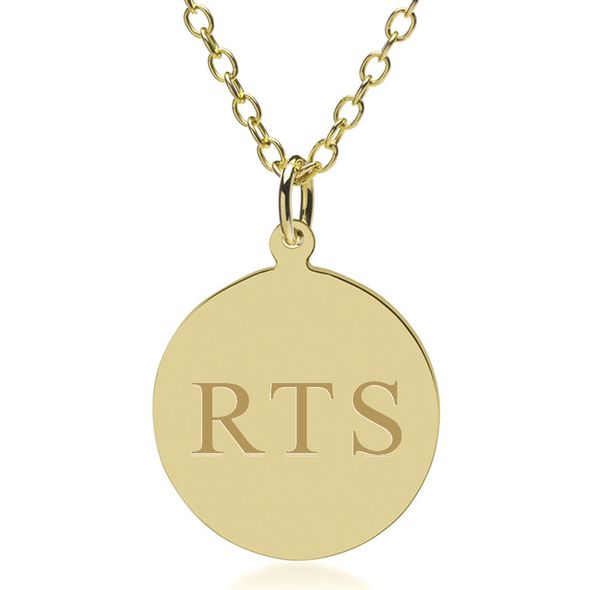 14K Gold Pendant & Chain - Image 1