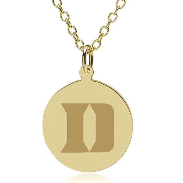 Duke 14K Gold Pendant & Chain - Image 2