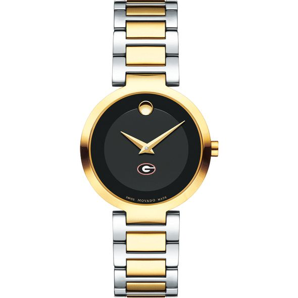 University of Georgia Women's Movado Two-Tone Modern Classic Museum with Bracelet - Image 2