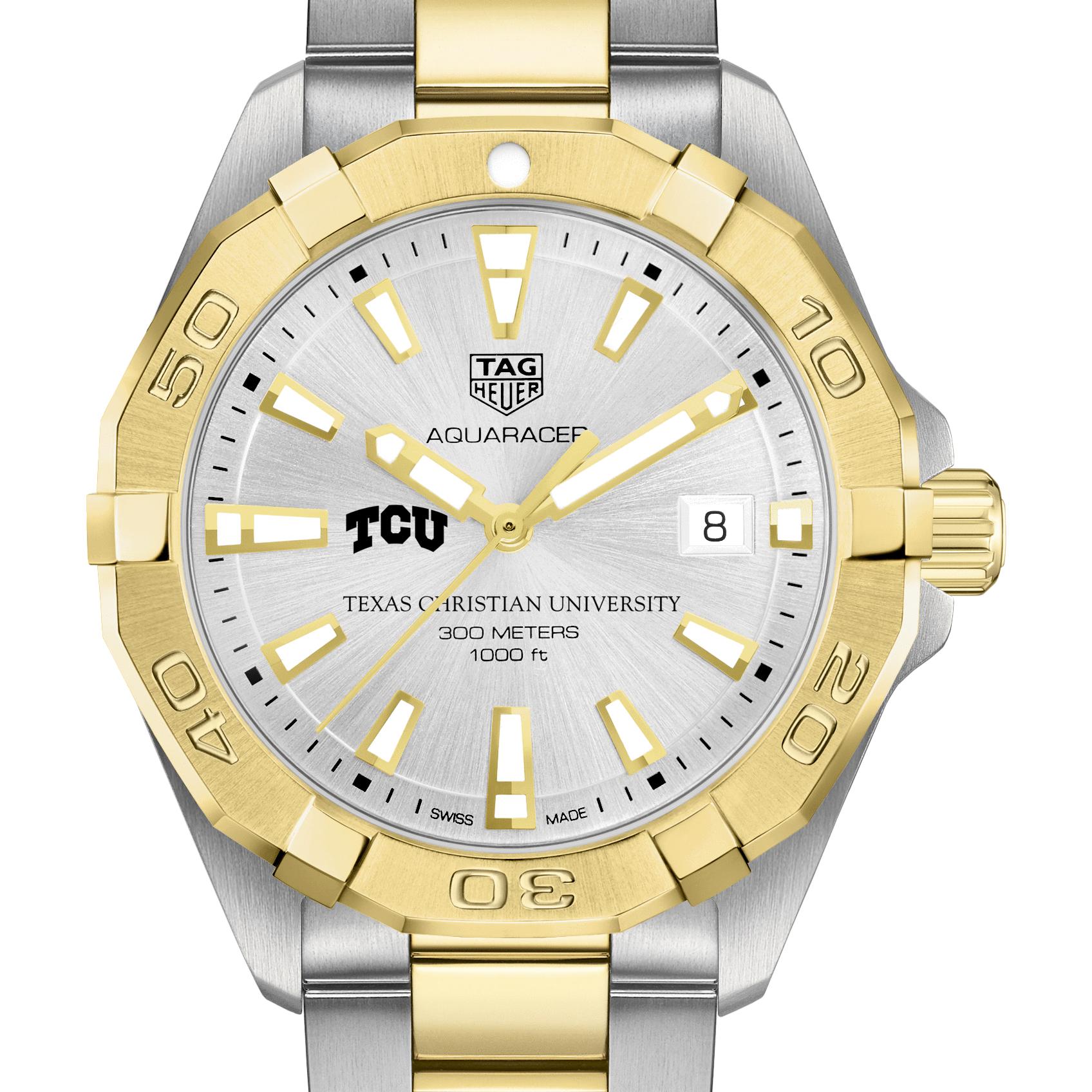 TCU Men's TAG Heuer Two-Tone Aquaracer