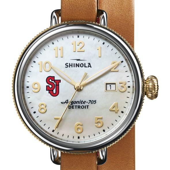 St. John's Shinola Watch, The Birdy 38mm MOP Dial - Image 1
