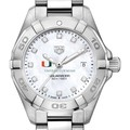 Miami Women's TAG Heuer Steel Aquaracer with MOP Diamond Dial - Image 1