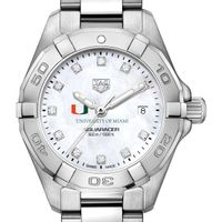 Miami Women's TAG Heuer Steel Aquaracer with MOP Diamond Dial