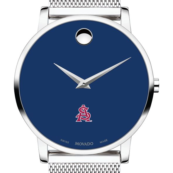 Arizona State Men's Movado Museum with Blue Dial & Mesh Bracelet
