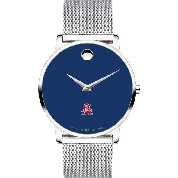 Arizona State Men's Movado Museum with Blue Dial & Mesh Bracelet - Image 2
