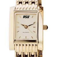 ASU Women's Gold Quad Watch with Bracelet
