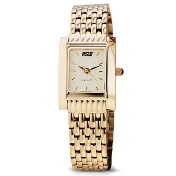 ASU Women's Gold Quad Watch with Bracelet - Image 2