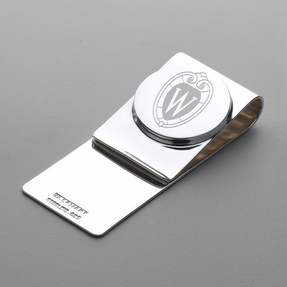 Wisconsin Sterling Silver Money Clip