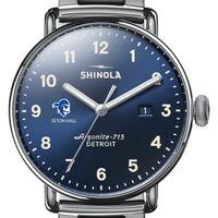 Seton Hall Shinola Watch, The Canfield 43mm Blue Dial