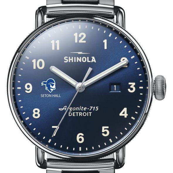 Seton Hall Shinola Watch, The Canfield 43mm Blue Dial - Image 1