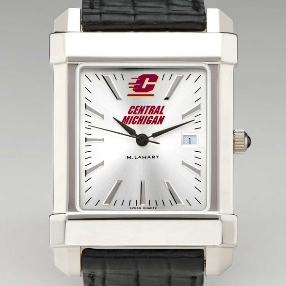 Central Michigan Men's Collegiate Watch with Leather Strap
