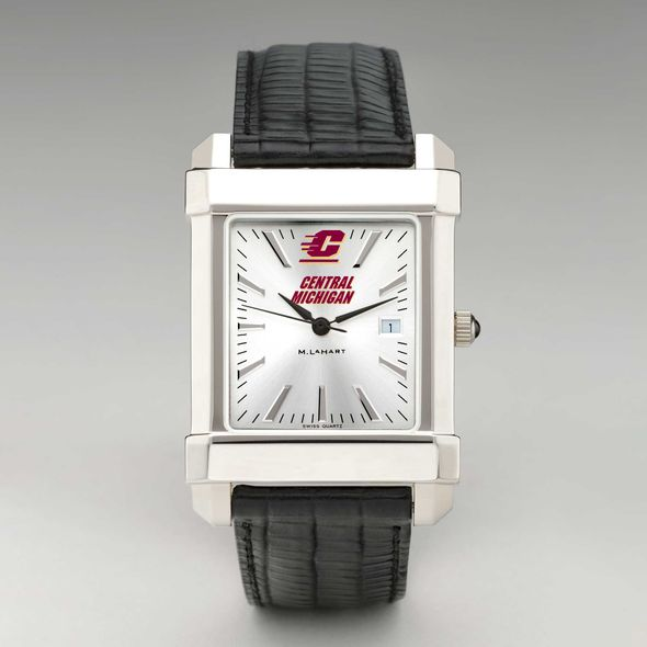Central Michigan Men's Collegiate Watch with Leather Strap - Image 2