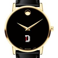 Davidson College Men's Movado Gold Museum Classic Leather