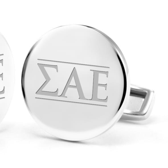 Sigma Alpha Epsilon Sterling Silver Cufflinks - Image 2