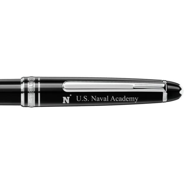US Naval Academy Montblanc Meisterstück Classique Ballpoint Pen in Platinum - Image 2