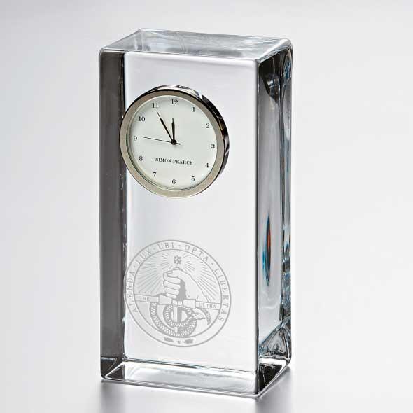 Davidson College Tall Glass Desk Clock by Simon Pearce