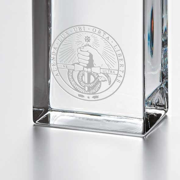 Davidson College Tall Glass Desk Clock by Simon Pearce - Image 2