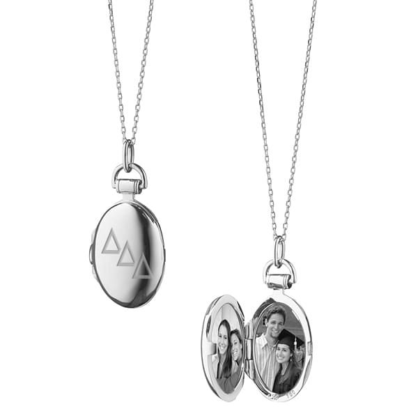 Delta Delta Delta Monica Rich Kosann Petite Locket in Silver