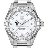 WashU W's TAG Heuer Steel Aquaracer with MOP Dia Dial & Bezel