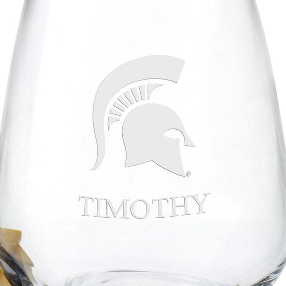 Michigan State University Stemless Wine Glasses - Set of 2 - Image 3