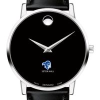Seton Hall Men's Movado Museum with Leather Strap