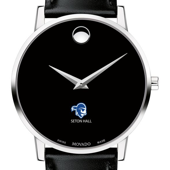 Seton Hall Men's Movado Museum with Leather Strap - Image 1