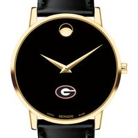University of Georgia Men's Movado Gold Museum Classic Leather