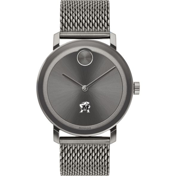 University of Maryland Men's Movado BOLD Gunmetal Grey with Mesh Bracelet - Image 2