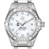 Iowa State University W's TAG Heuer Steel Aquaracer with MOP Dia Dial & Bezel