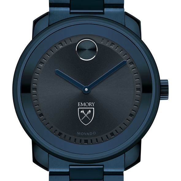 Emory University Men's Movado BOLD Blue Ion with Bracelet