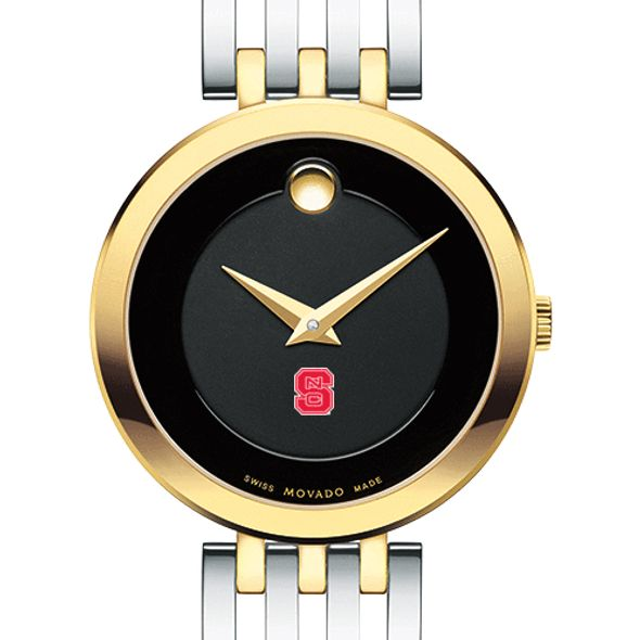 NC State Women's Movado Esparanza Two-Tone Museum with Bracelet