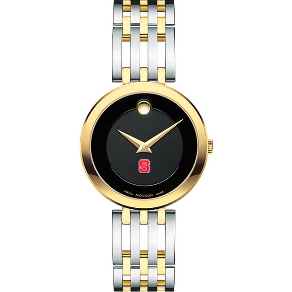 NC State Women's Movado Esparanza Two-Tone Museum with Bracelet - Image 2