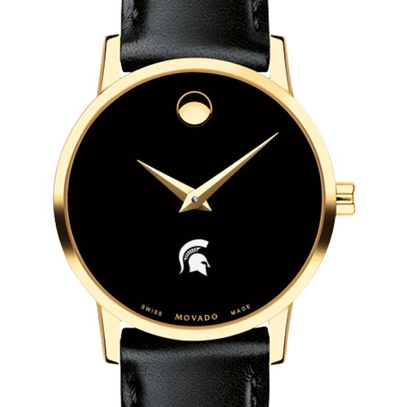 Michigan State University Women's Movado Gold Museum Classic Leather