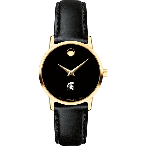 Michigan State University Women's Movado Gold Museum Classic Leather - Image 2