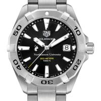 Northeastern Men's TAG Heuer Steel Aquaracer with Black Dial