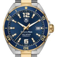 Berkeley Haas Men's TAG Heuer Two-Tone Formula 1 with Blue Dial & Bezel