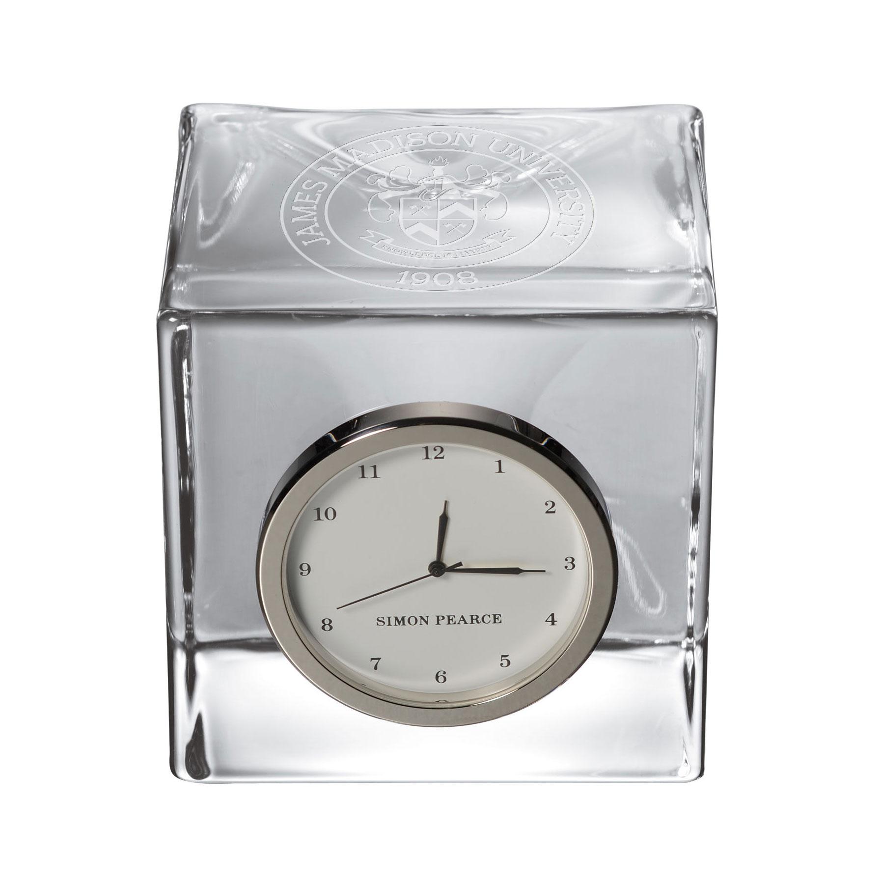 James Madison Glass Desk Clock by Simon Pearce
