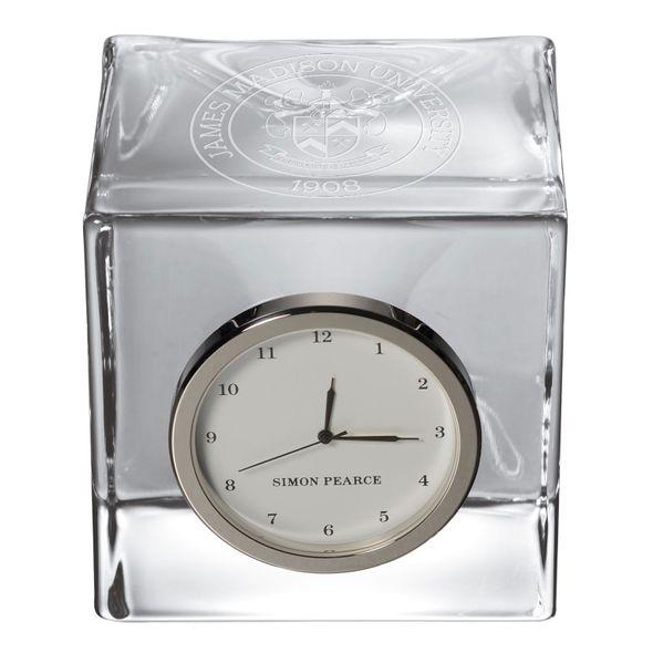 James Madison Glass Desk Clock by Simon Pearce - Image 2