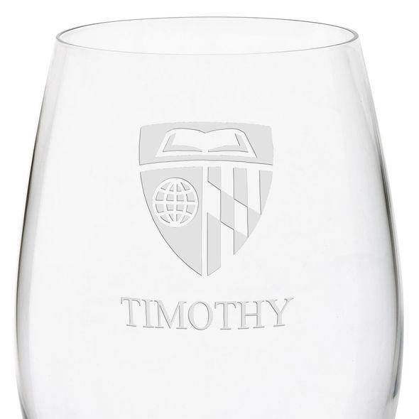 Johns Hopkins University Red Wine Glasses - Set of 4 - Image 3
