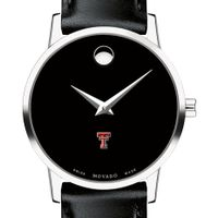 Texas Tech Women's Movado Museum with Leather Strap