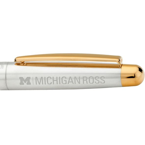 Michigan Ross Fountain Pen in Sterling Silver with Gold Trim - Image 2