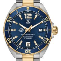 Oklahoma State Men's TAG Heuer Two-Tone Formula 1 with Blue Dial & Bezel
