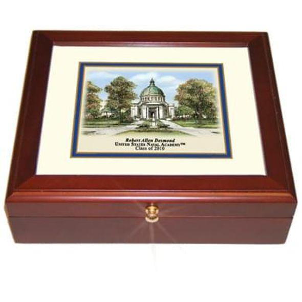 Naval Academy Eglomise Desk Box