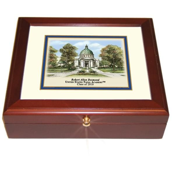 Naval Academy Eglomise Desk Box - Image 2