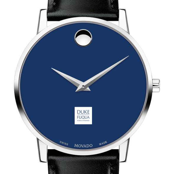 The Fuqua School of Business Men's Movado Museum with Blue Dial & Leather Strap - Image 1